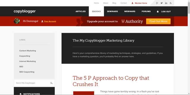 copyblogger site